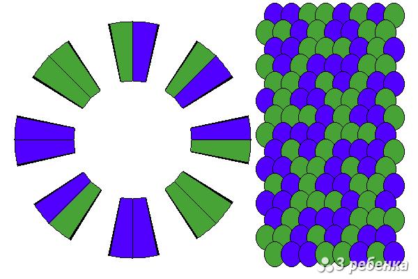 Схема фенечки кумихимо 24297