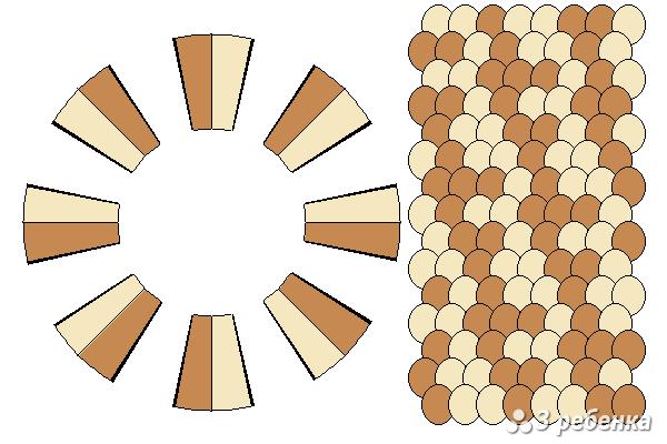 Схема фенечки кумихимо 24293