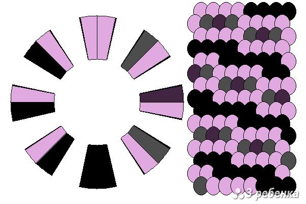 Схема фенечки кумихимо 24289