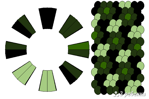 Схема фенечки кумихимо 24285