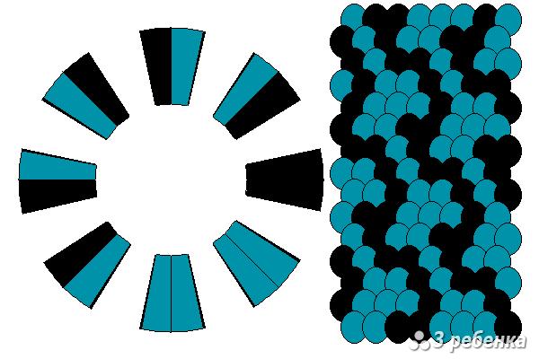 Схема фенечки кумихимо 24281