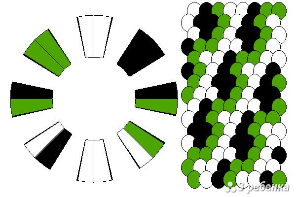Схема фенечки кумихимо 24277