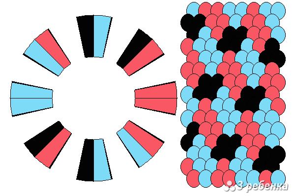Схема фенечки кумихимо 24273