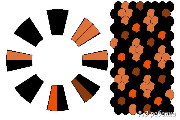 Схема фенечки кумихимо 24269