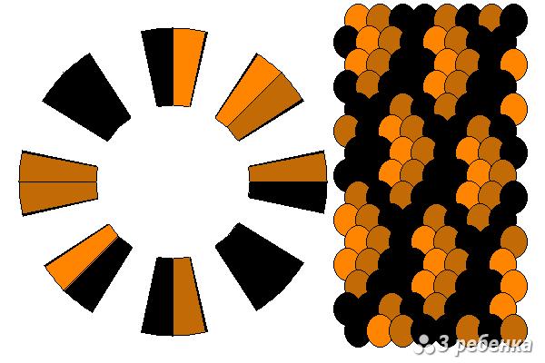 Схема фенечки кумихимо 24265
