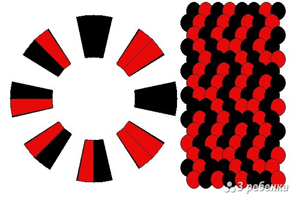 Схема фенечки кумихимо 24261