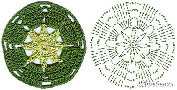 Схема вязания крючком 210
