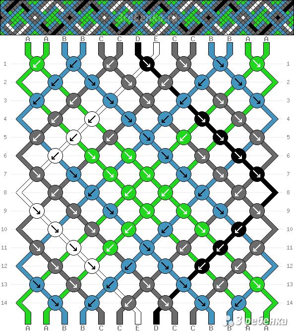 Схема фенечки 24192