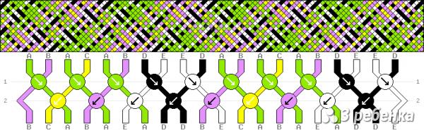 Схема фенечки 24555