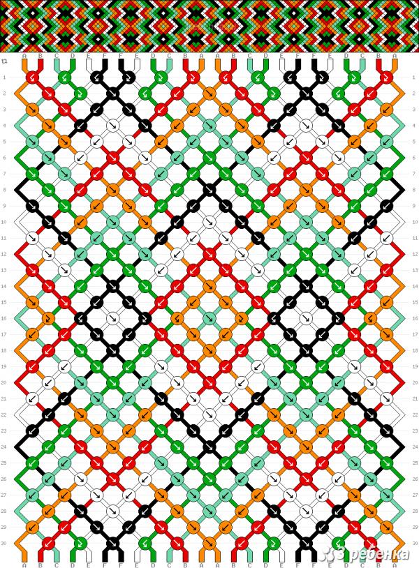Схема фенечки 24575