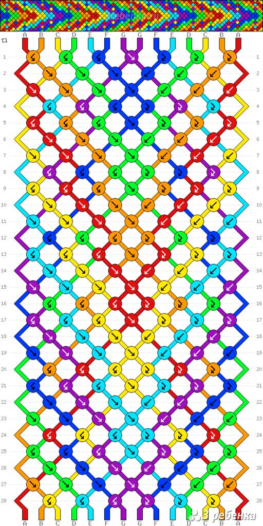 Схема фенечки 24583
