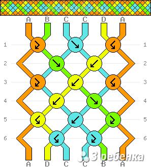 Схема фенечки 24612