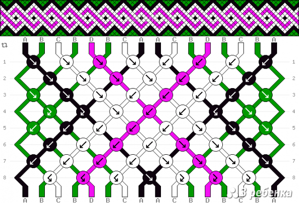 Схема фенечки 24637