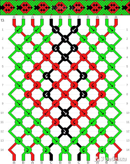 Схема фенечки 24675