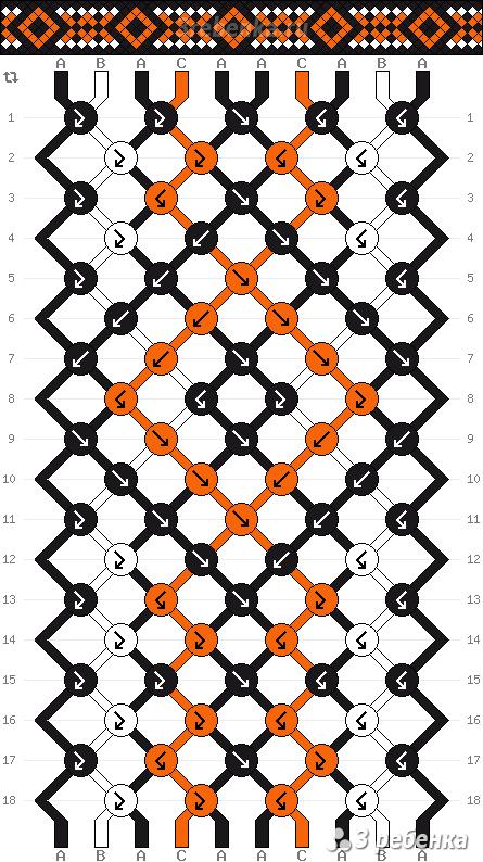 Схема фенечки 24679
