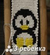Схема фенечки прямым плетением 24135