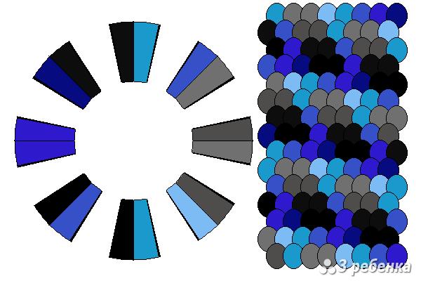 Схема фенечки кумихимо 24249