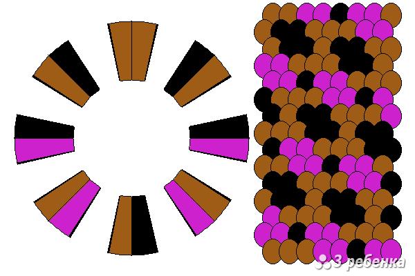 Схема фенечки кумихимо 24241