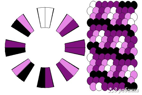 Схема фенечки кумихимо 24237