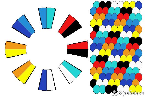 Схема фенечки кумихимо 24233