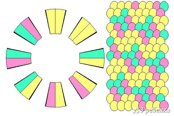 Схема фенечки кумихимо 24229
