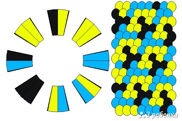Схема фенечки кумихимо 24225