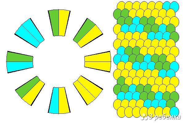 Схема фенечки кумихимо 24221