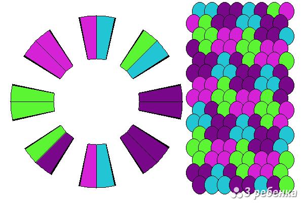 Схема фенечки кумихимо 24217
