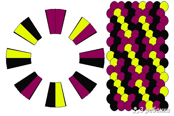 Схема фенечки кумихимо 24983