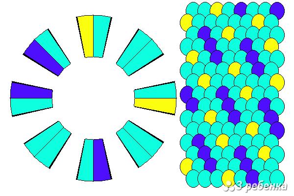 Схема фенечки кумихимо 24257