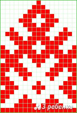 Схема фенечки прямым плетением 24187