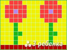 Схема фенечки прямым плетением 24172