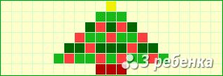 Схема фенечки прямым плетением 24177