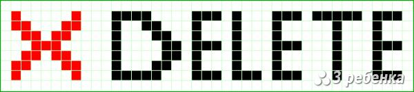 Схема фенечки прямым плетением 24167