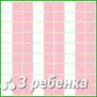 Схема фенечки прямым плетением 24207