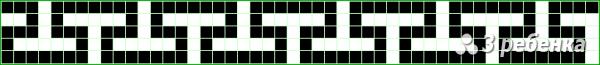 Схема фенечки прямым плетением 24157