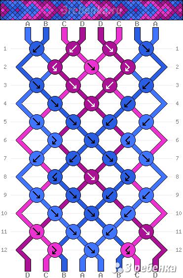 Схема фенечки 25189