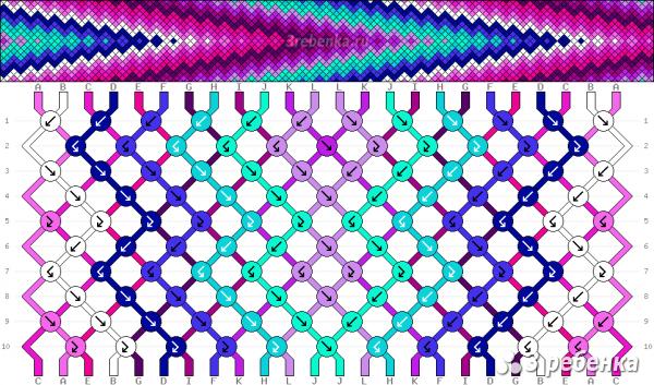 Схема фенечки 25209