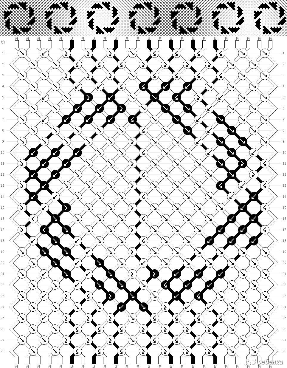 Как составить схему фенечек