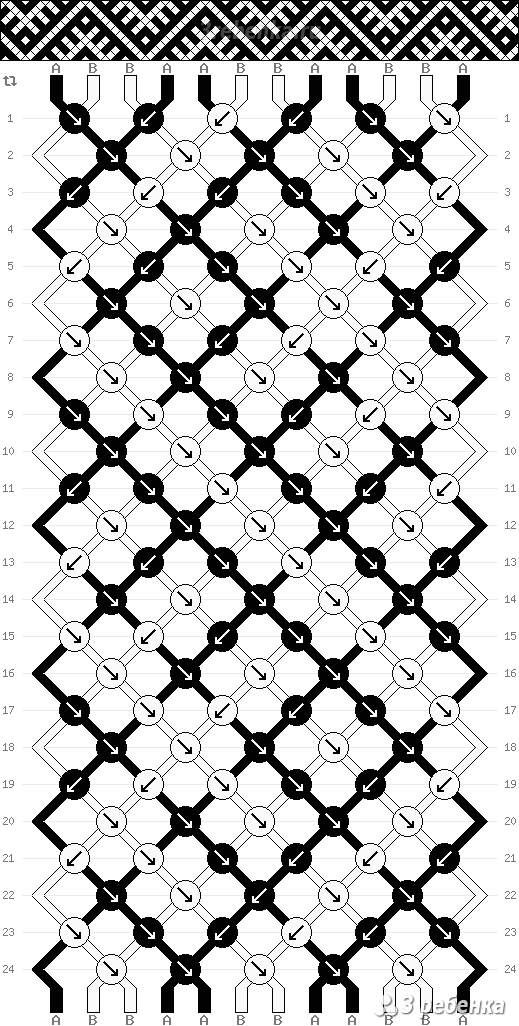 схема плетения фенечек с цска