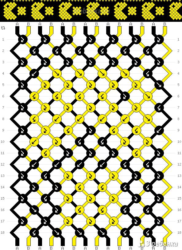 Схема фенечки 25328