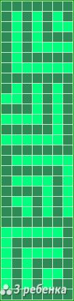 Схема фенечки прямым плетением 24815