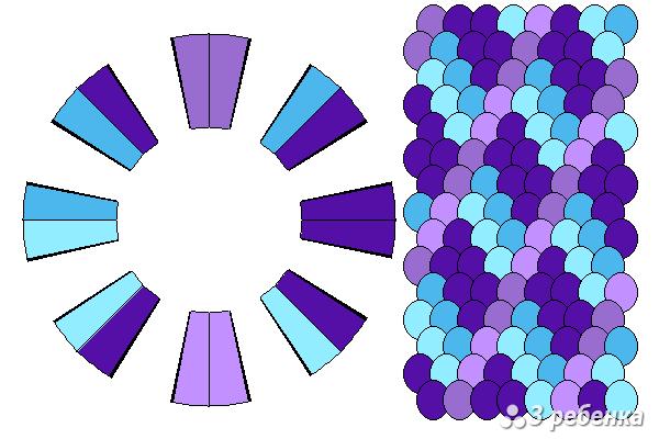 Схема фенечки кумихимо 25652