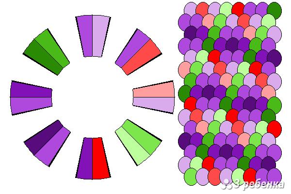 Схема фенечки кумихимо 25612