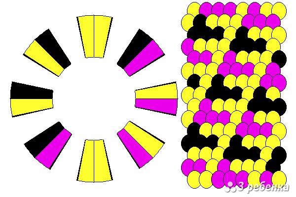 Схема фенечки кумихимо 25470