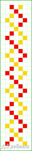 Схема фенечки прямым плетением 25869