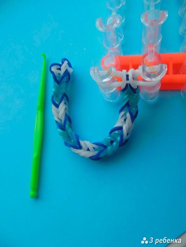 как делать браслет из резинок