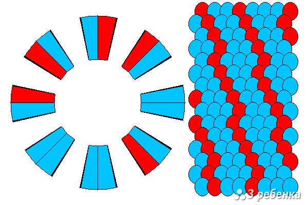 Схема фенечки кумихимо 25668