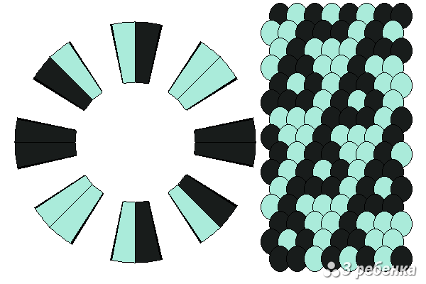 Схема фенечки кумихимо 27072