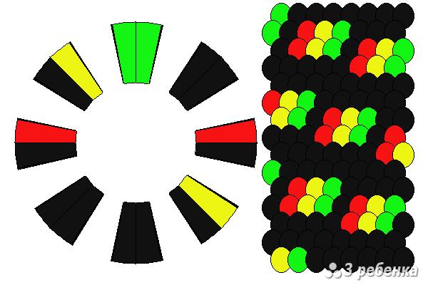 Схема фенечки кумихимо 27052